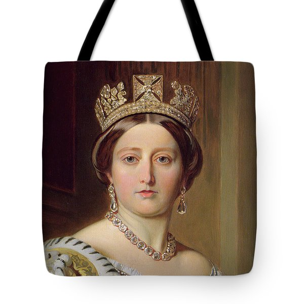Portrait Of Queen Victoria Tote Bag by Franz Xavier Winterhalter