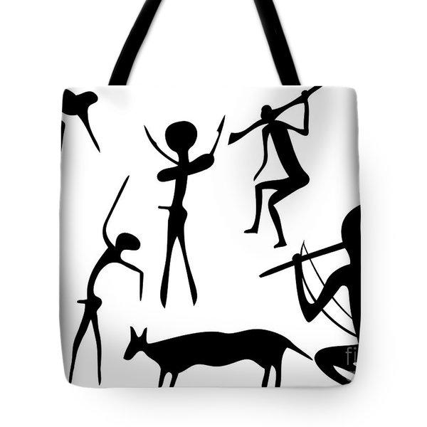 Primitive Art - Various Figures Tote Bag by Michal Boubin