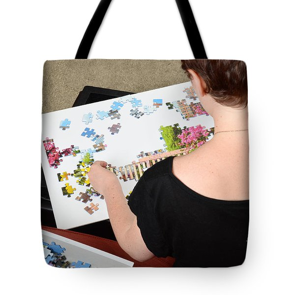 Puzzle Therapy Tote Bag by Photo Researchers, Inc.