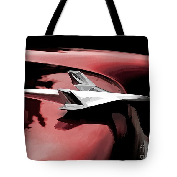 Red Chevy Jet Tote Bag by Douglas Pittman