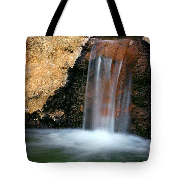 Red Waterfall Tote Bag by Carlos Caetano