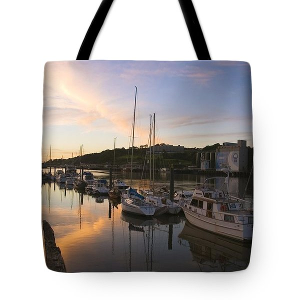 River Suir, From Millenium Plaza Tote Bag by The Irish Image Collection