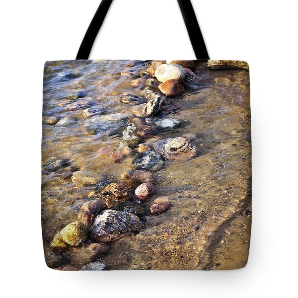 Rocks in water Tote Bag by Elena Elisseeva