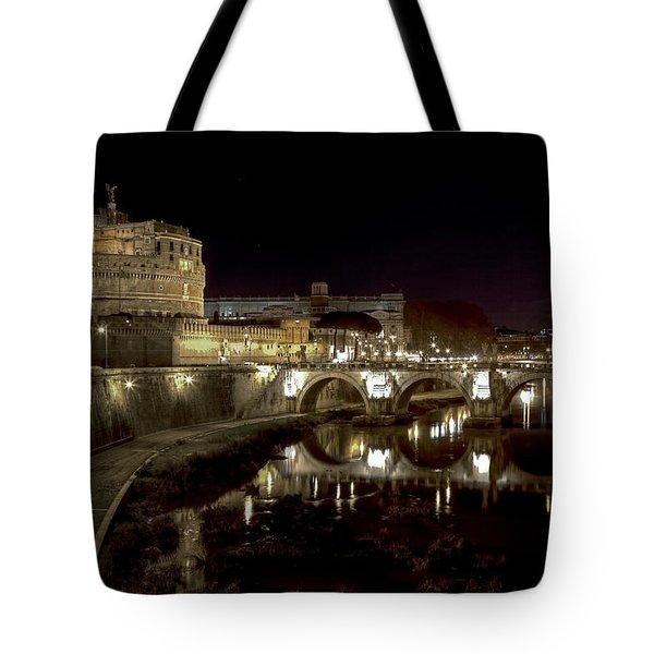 Rome Ponte San Angelo Tote Bag by Joana Kruse