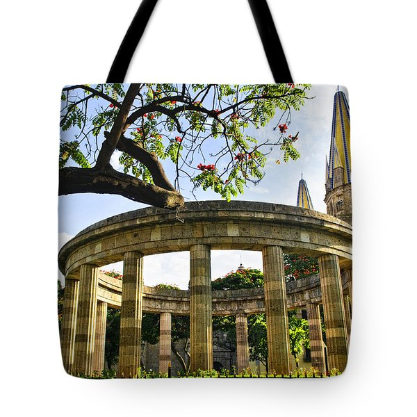 Rotunda of Illustrious Jalisciences and Guadalajara Cathedral Tote Bag by Elena Elisseeva