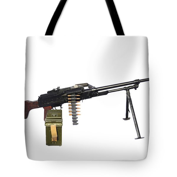 Russian Pkm General-purpose Machine Gun Tote Bag by Andrew Chittock