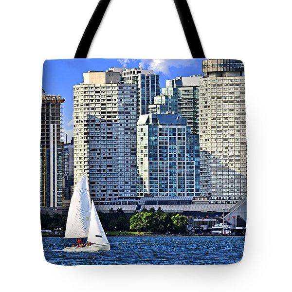Sailing In Toronto Harbor Tote Bag by Elena Elisseeva
