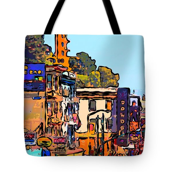 San Francisco Broadway Tote Bag by Wingsdomain Art and Photography
