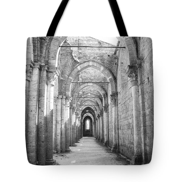 San Galgano Abbey Tote Bag by Ralf Kaiser