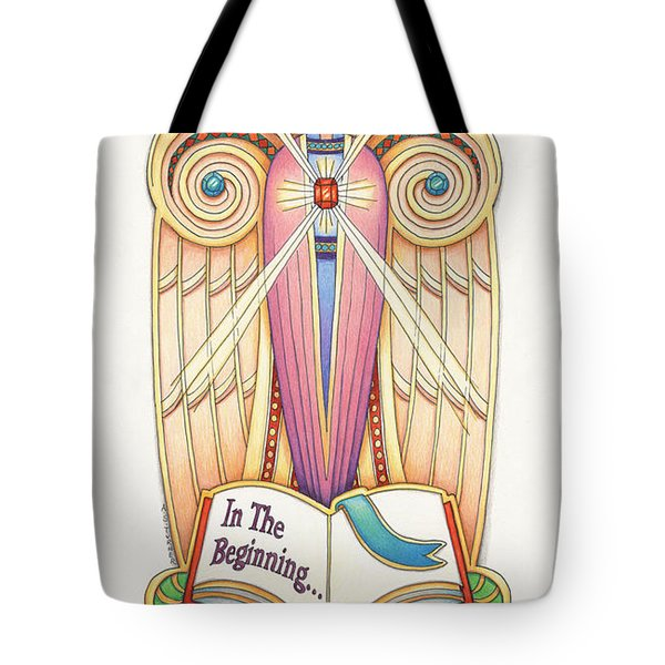Scroll Angel - Ionica Tote Bag by Amy S Turner