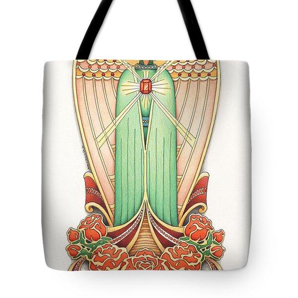 Scroll Angel - Roselind Tote Bag by Amy S Turner