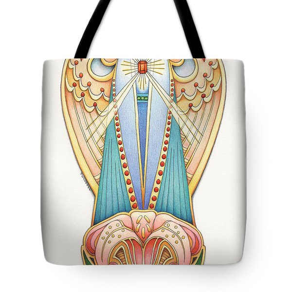 Scroll Angels - Lillium Tote Bag by Amy S Turner
