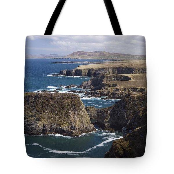 Sea Cliffs And Coastline Near Erris Tote Bag by Gareth McCormack
