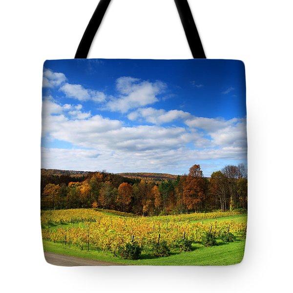 Six Miles Creek Vineyard Tote Bag by Paul Ge