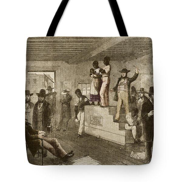 Slave Auction, 1861 Tote Bag by Photo Researchers