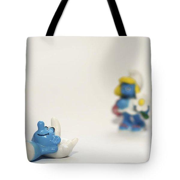 Smurf figurines Tote Bag by Amir Paz