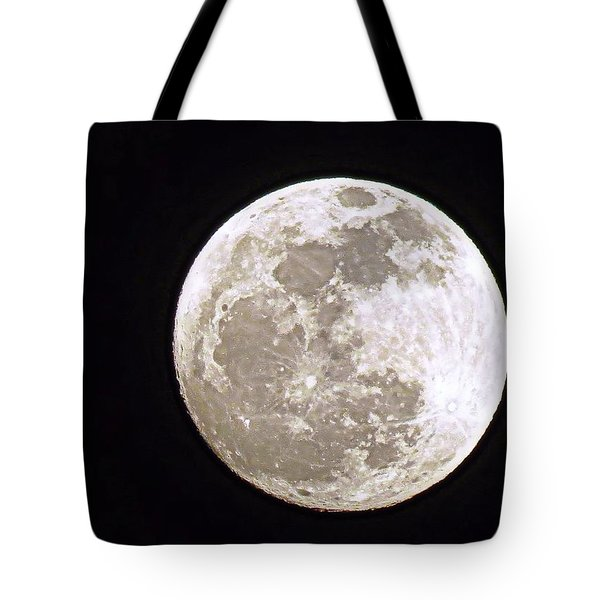 Snow Moon Tote Bag by Janice Drew