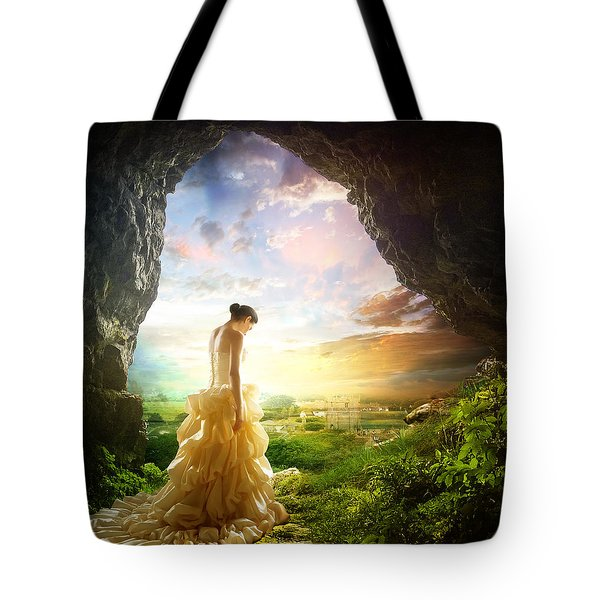 Solitary View Tote Bag by Mary Hood