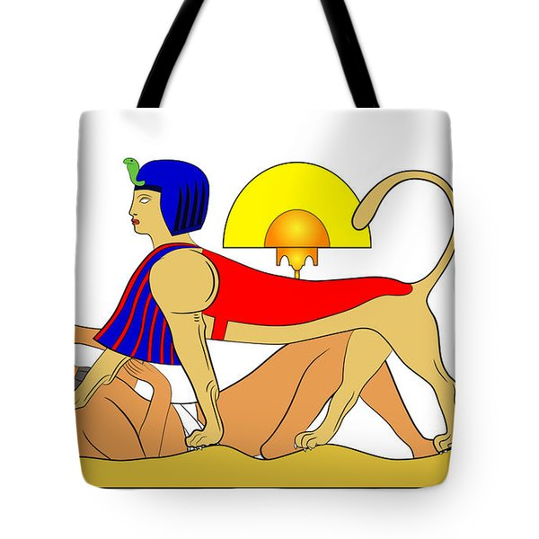 Sphinx And Failed Puzzler Tote Bag by Michal Boubin