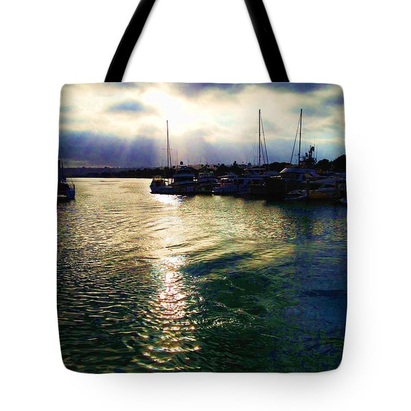 Stormy Skies Tote Bag by Cheryl Young