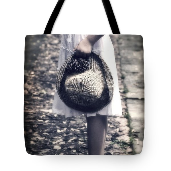 straw hat Tote Bag by Joana Kruse