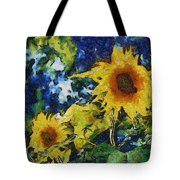 Sunflowers Tote Bag by Michelle Calkins