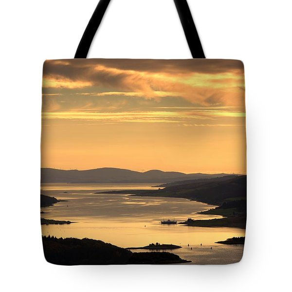 Sunset Over Water, Argyll And Bute Tote Bag by John Short