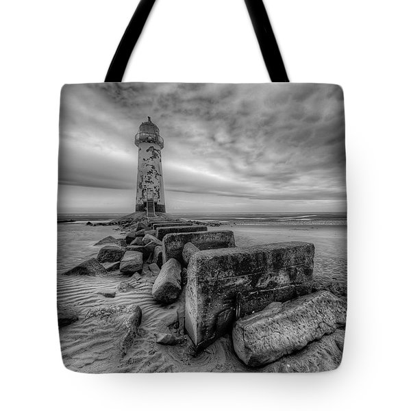 Talacre Lighthouse Tote Bag by Adrian Evans