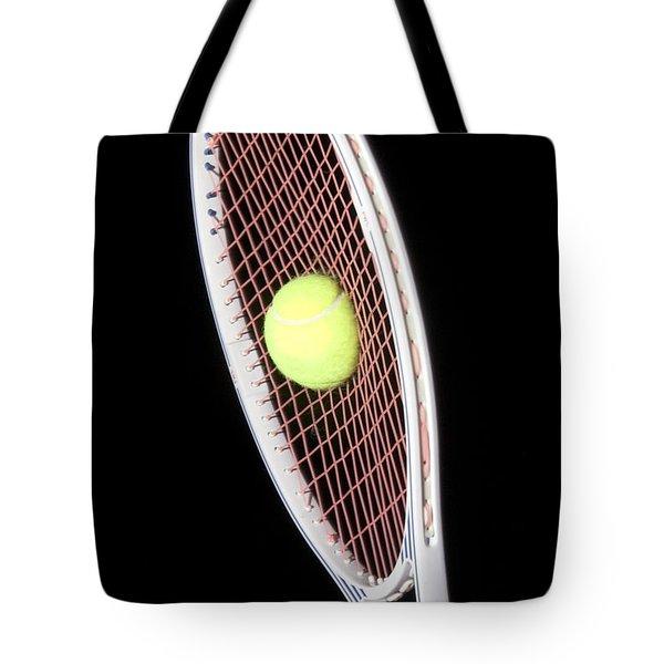 Tennis Ball And Racket Tote Bag by Ted Kinsman