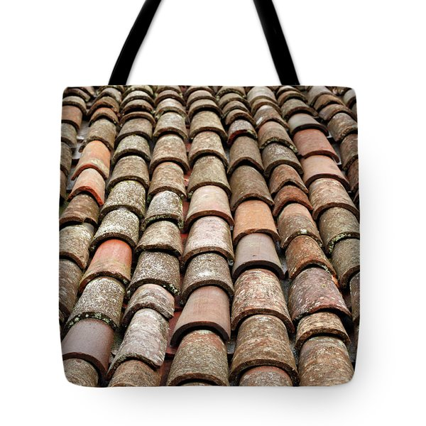 Terra Cotta Roof Tiles Tote Bag by Gaspar Avila