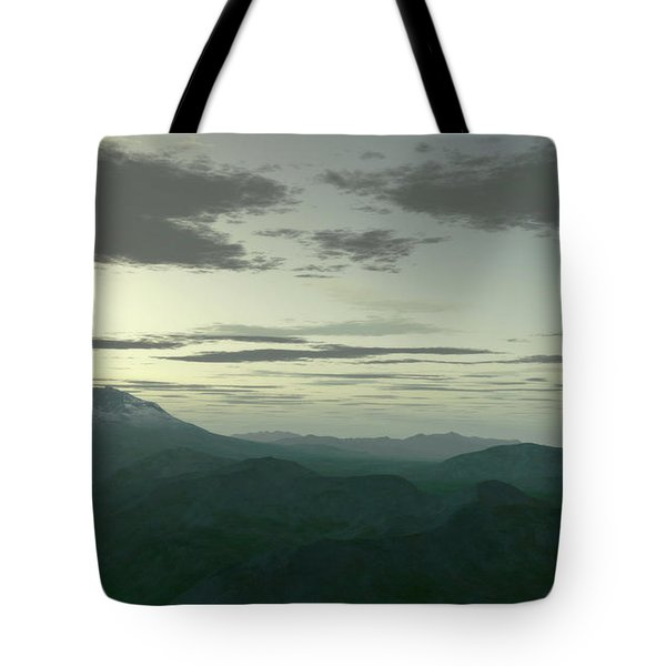 Terragen Render Of Mt. St. Helens Tote Bag by Rhys Taylor