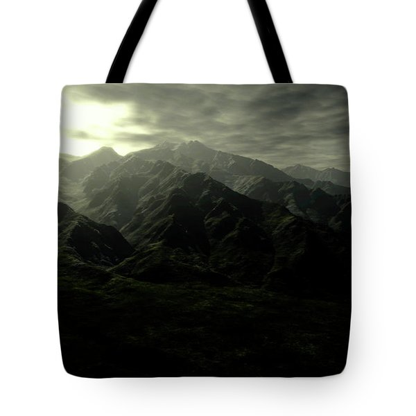 Terragen Render Of Mt. Whitney Tote Bag by Rhys Taylor