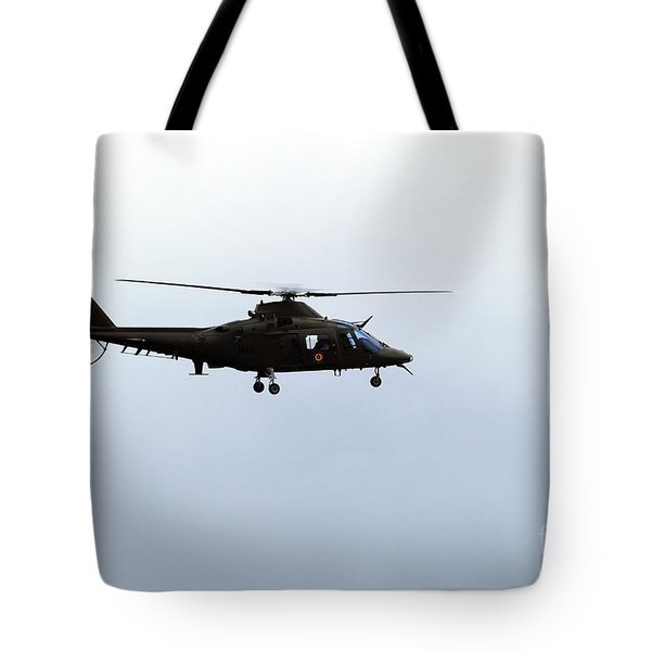 The Agusta A-109 Helicopter Tote Bag by Luc De Jaeger