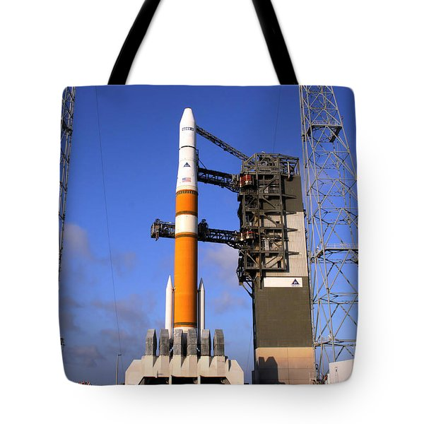 The Delta Iv Rocket That Will Launch Tote Bag by Stocktrek Images