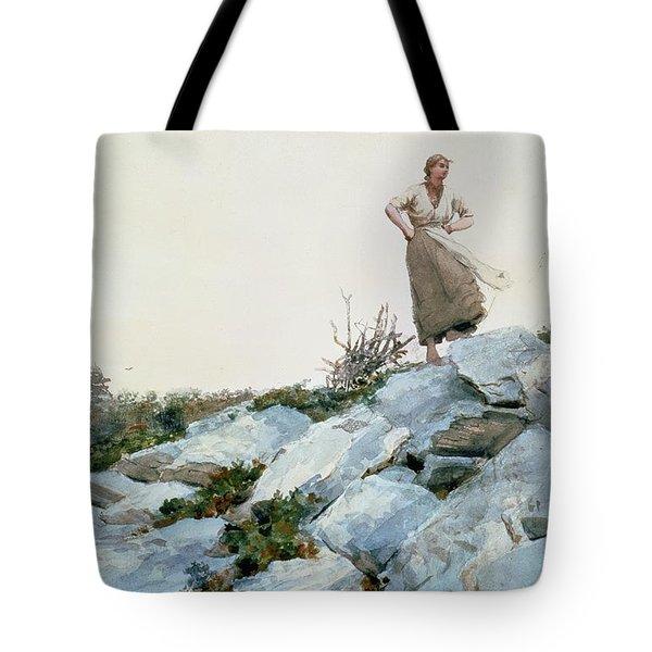 The Faggot Gatherer Tote Bag by Winslow Homer