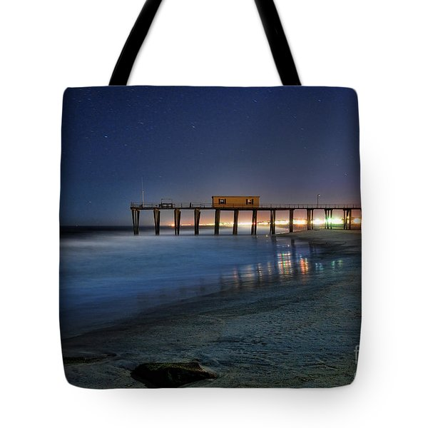The Fishing Pier Tote Bag by Paul Ward
