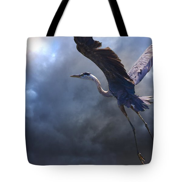 The Flight Of Titans Tote Bag by Ron Jones