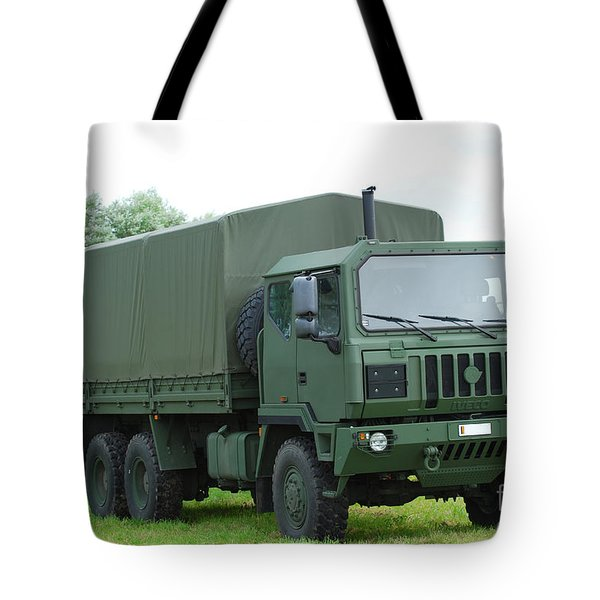 The Iveco M250 8 Ton Truck Tote Bag by Luc De Jaeger