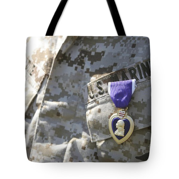 The Purple Heart Award Hangs Tote Bag by Stocktrek Images