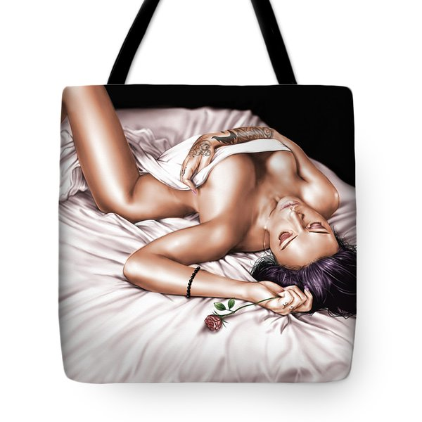 The Rose Tote Bag by Pete Tapang