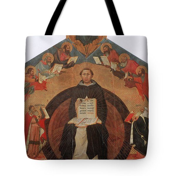 Thomas Aquinas, Italian Philosopher Tote Bag by Photo Researchers