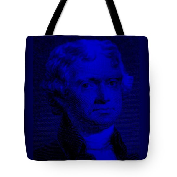 THOMAS JEFFERSON in BLUE Tote Bag by ROB HANS