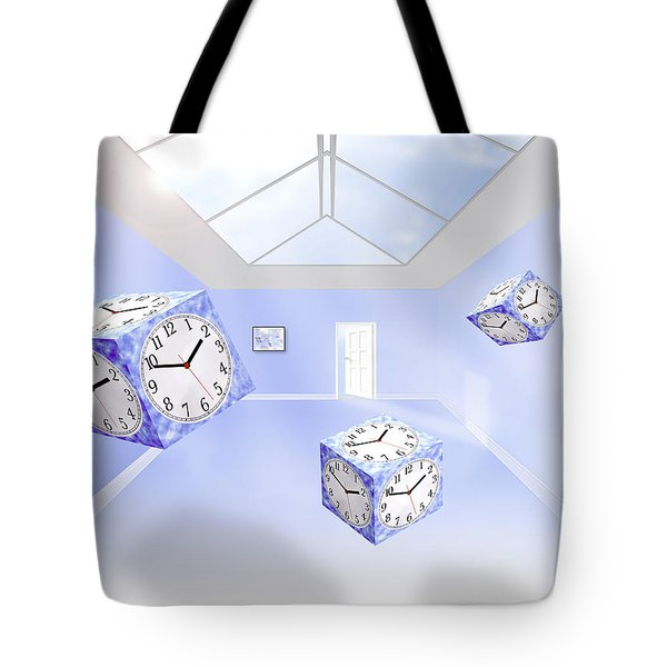 Time Cubed Tote Bag by Mike McGlothlen
