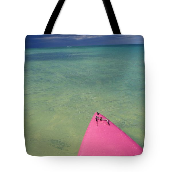 Tip Of Pink Kayak Tote Bag by David Cornwell/First Light Pictures, Inc - Printscapes
