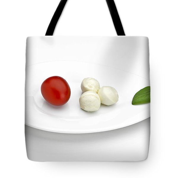 Tomato Mozzarella Tote Bag by Joana Kruse