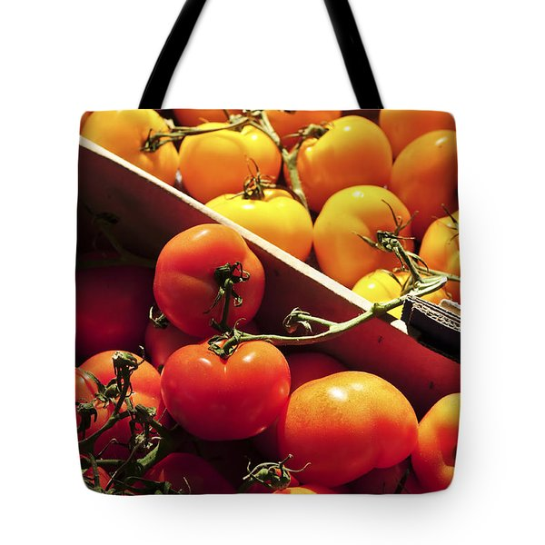 Tomatoes On The Market Tote Bag by Elena Elisseeva