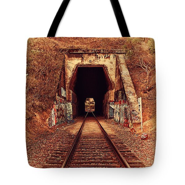 Train Tunnel At The Muir Trestle in Martinez California . 7D10220 Tote Bag by Wingsdomain Art and Photography