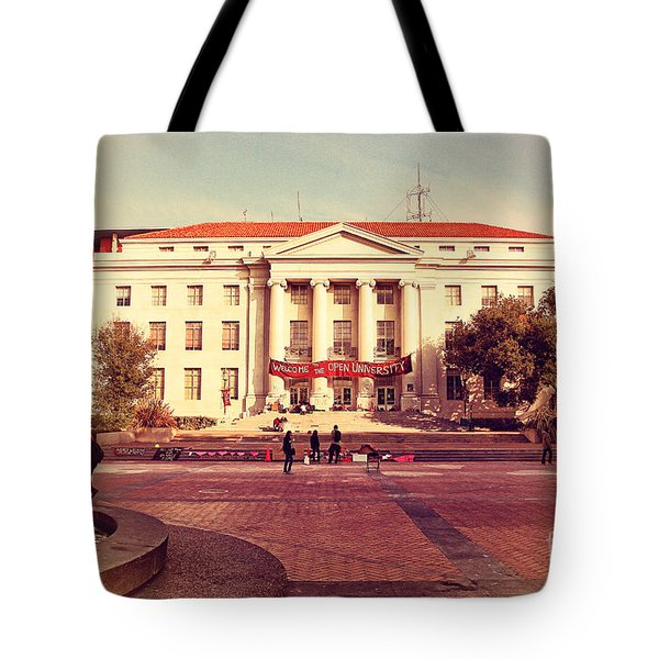 UC Berkeley . Sproul Hall . Sproul Plaza . Occupy UC Berkeley . 7D9994 Tote Bag by Wingsdomain Art and Photography