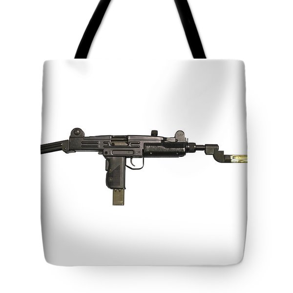 Uzi 9mm Submachine Gun With Attached Tote Bag by Andrew Chittock