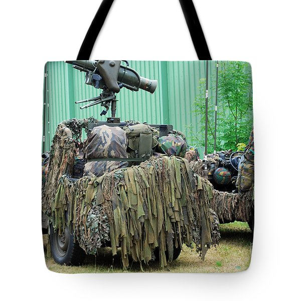 Vw Iltis Jeeps Of A Recce Scout Unit Tote Bag by Luc De Jaeger